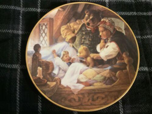 Goldilocks and the Three Bears by Scott Gustafson Plate 1991 Free Ship