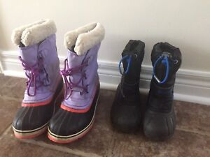 SORELS Size 11 Boys and Size 5 Junior
