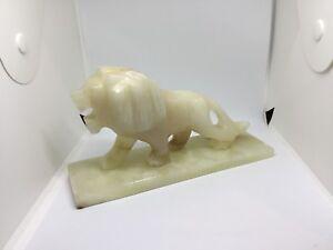 Onyx Marble lion figurine statue