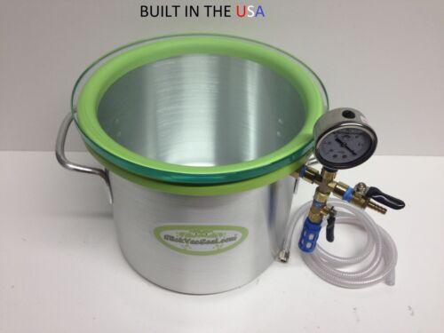 3.0- Gallon Aluminum SlickWoodVac Wood Stabilizing Chamber.