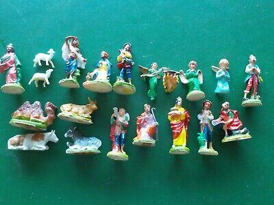 Vintage 20 Nativity Set Figurines and Animals (SB)