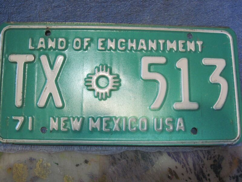 1971 New Mexico Taxi license plate.
