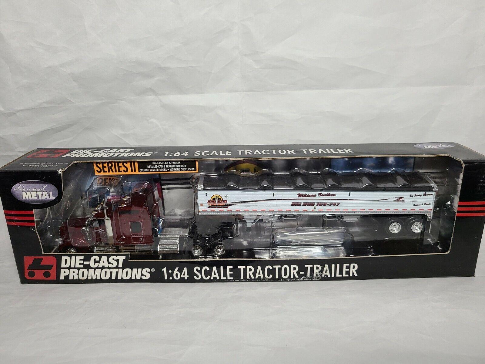 Big Bud Kenworth Truck & Grain Trailer Williams ERTL DCP 30858 1:64 Scale NIB