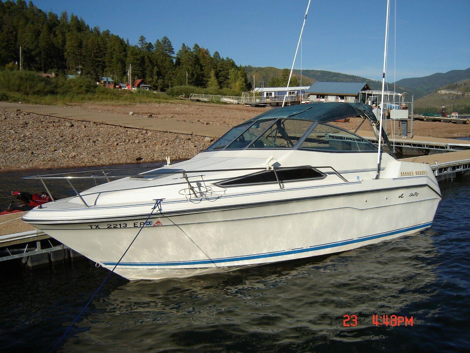 1989 Searay Sun Dancer Cruiser Mercruiser Indoor/Outboard V-6 4.3 Liter 205 HP