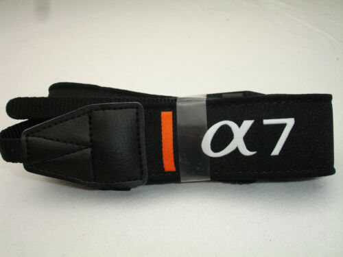 "SONY ALPHA 7 camera neck strap , A7 , Black, 1.25"" Wide,  NEW cond."