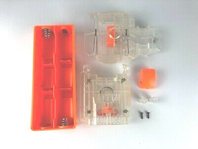 Clear Nerf Vulcan EBF-25 Ammo Belt, Battery & Trigger Covers Replacement Parts