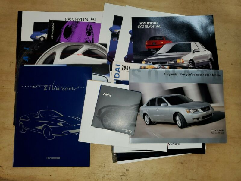 1990s/2000s Hyundai brochure lot of 31/Tiburon/Talus