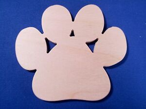 Paw-Print-Wooden-Craft-Shape-Sizes-Qtys-Available-Dog-Foot-Animal