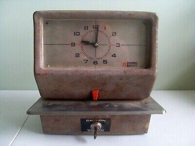 Vintage Simplex Time Recorder Punch Clock Model Jcg1r3