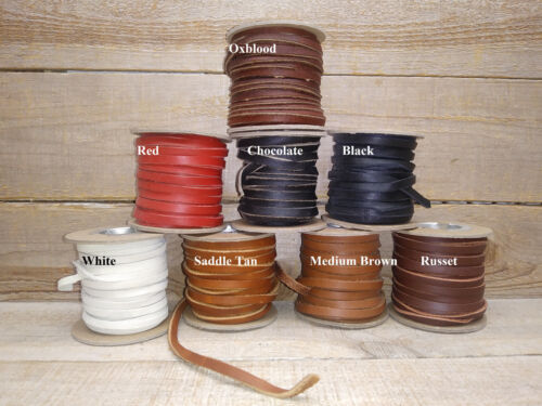 "Cow hide Leather Lace Spool Roll 3/16"" x 25 FT (medium strength) 5-6 oz E-17"