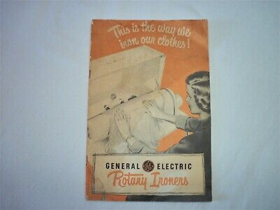 VINTAGE 1950s GE Rotary Ironers users booklet, Free Shipping!