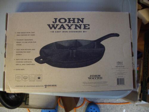 "John Wayne Cast Iron Cookware 9"" WEDGE Pan Foundry Seasoned Ready to use NIB"