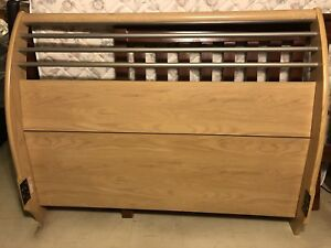 Light Wood Sleigh Bed Frame (Queen size)