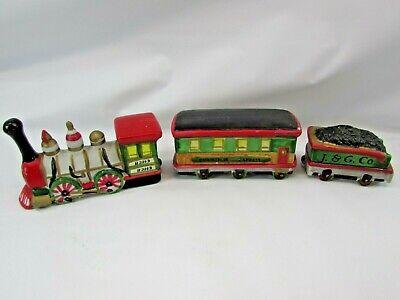 Vintage Lemax Dickensvale Porcelain Christmas Express Train Set 32792