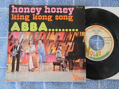 Abba  - Honey Honey/King Kong Song -  Belgian Picture Sleeve PS 7""
