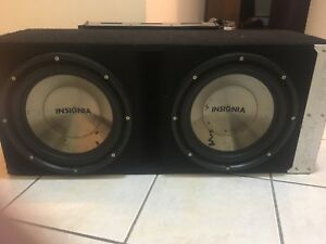 "2/12"" Insignia Subs/Amp For Sale"
