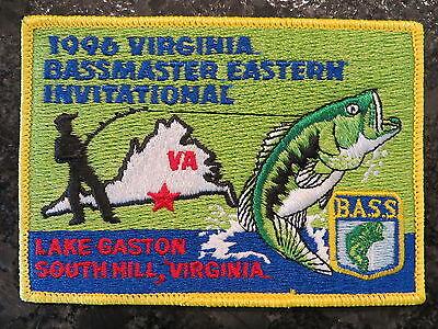Rare Vintage Bassmaster Tournament Patch 1996 Virginia Eastern Invitational