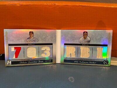 2010 Topps Tribute Dual Patches & Bats Frank Robinson & Brooks Robinson #'d 25 2010 Baseball Bats