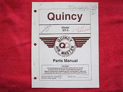 1993 Quincy Air Master Qt-5 Compressor Parts Manual