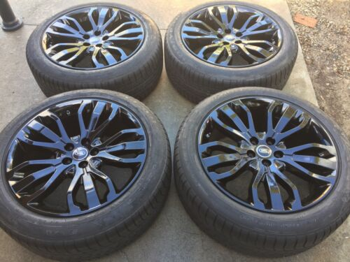 """21"""" Brand New 2017 Oem Range Rover Autobiography Supercharged Black Wheels Tires"""