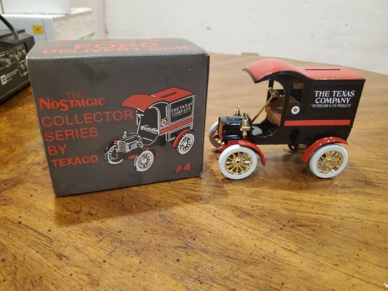 Ford 1905 Texaco Delivery Car Bank. The Nostalgic Collector Series By Texaco #4.