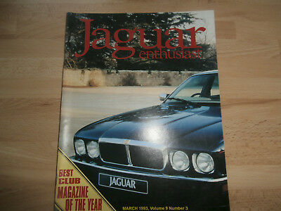 JAGUAR ENTHUSIAST 1993.XJ6 Resto'pt 10.XJ 220-C.New models. Spares.Adverts
