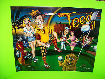 Tee'd Off Original 1993 Gottlieb NOS Pinball Machine Translite Art Golfing Theme