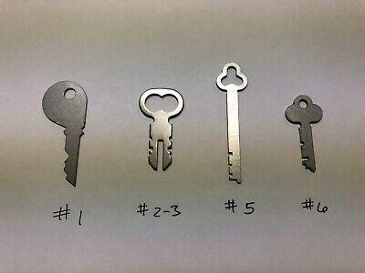 National Cash Register Keys #1, # 2/3, #5, #6, 400 class, 500 class, 800 Class