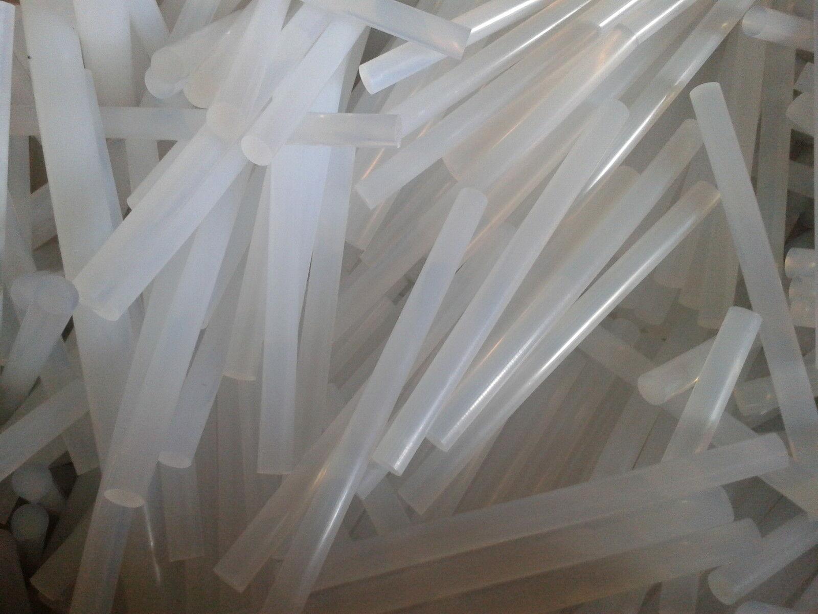 100 Stück  7mm x100mm transparent Klebestangen Klebesticks Heißkleber Kleber NEU