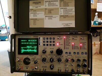 Motorola R2008d Communications Service Monitorsystem Analyzer Cal And Warranty