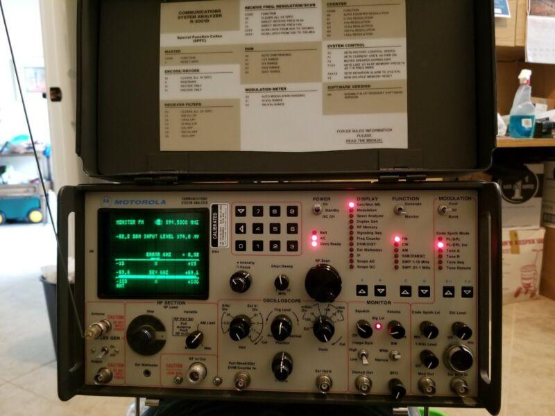 Motorola R2008d Communications Service Analyzer xtra CRT, manuals & accessories
