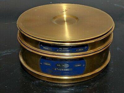 Gilson Company No. 140 No. 200 8 Usa Standard Test Sieve With Cap