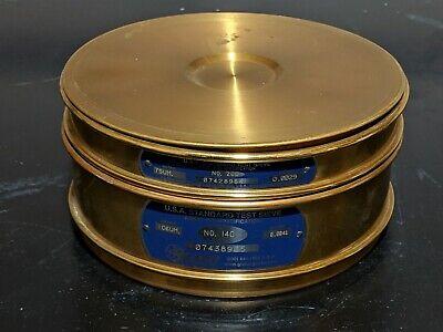 Gilson Company No. 140 No. 200 8 Usa Standard Test Sieve With Cap