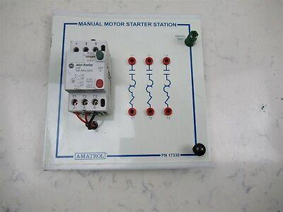 Amatrol 17330 Manual Motor Starter Electronic Trainer Allen Bradley 140-mn-0250