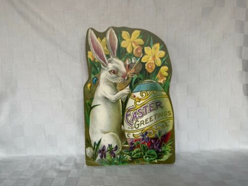 Easter Rabbit Wood Art Decor Moonlight And Roses Marta E Peters Vintage