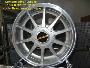 GENUINE-COMPOMOTIVE-10-SPOKE-WHEEL-15x7-5x115-ALLOY-RIM-MAG-SPARE