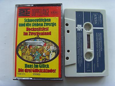 MC Kassette Schneewittchen und die sieben Zwerge etc Fass Märchen 2LP Doppel ()