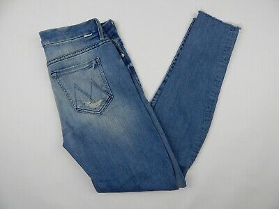 Fray Denim Jeans (Mother Denim The Pixie Fray Lightwash Destroyed Jeans Women's sz 27)