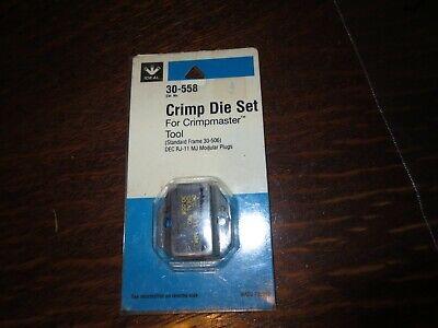 Ideal 30-558 Crimp Die For Rj-11 Mj Modular Plug Crimpmaster Tool Frame 30-506