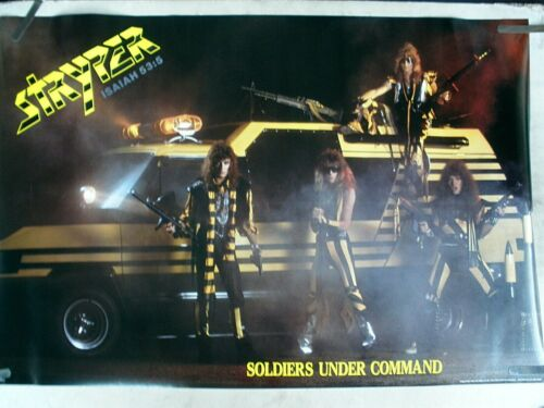 RARE STRYPER SOLDIERS UNDER COMMAND 1985 VINTAGE ORIGINAL MUSIC POSTER