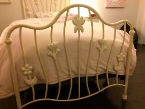 White Wrought Iron Cast Bed Frame - Girl