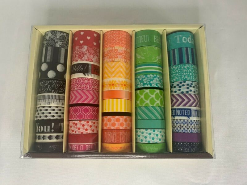Planner Washi Tape Box By Recollections, Crafting tape box of 45 rolls