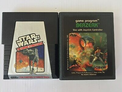 Atari 2600 Video Arcade Game STAR WARS The Empire Strikes Back & Berzerk -Tested