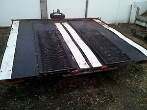 double wide snow mobile trailer