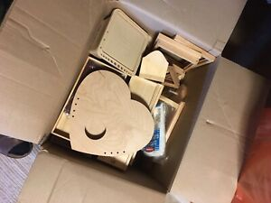 Wood craft supplies lot of approx 30 pcs