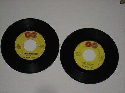 45rpm THE MARVELETTES(lot of 2)godess of love TAMLA'S nice SEE PICS  - Godess Of Love