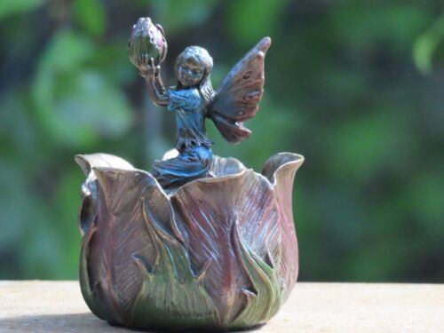 Fairy Mini Trinket Box ~ Veronese Collection, Bronzed