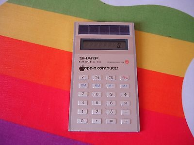 RARE VINTAGE APPLE COMPUTER INC LOGO SHARP CALCULATOR c.1985 EMPLOYEE PROMO