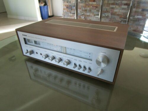 Vintage Yamaha CR-450 Natural Sound Stereo Receiver Wood Case Aluminium Face