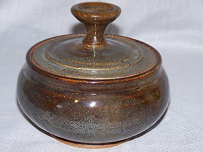 Vintage Studio Art Pottery Stoneware Canister Pot with Lid
